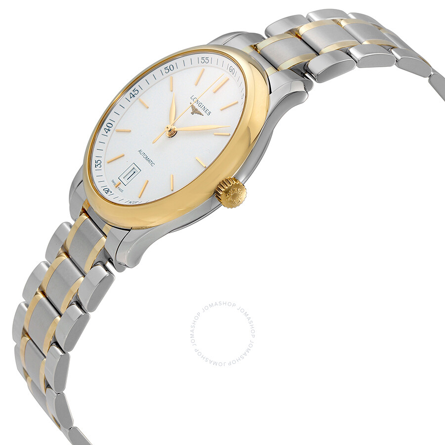 longines master 18k yellow gold and steel automatic s