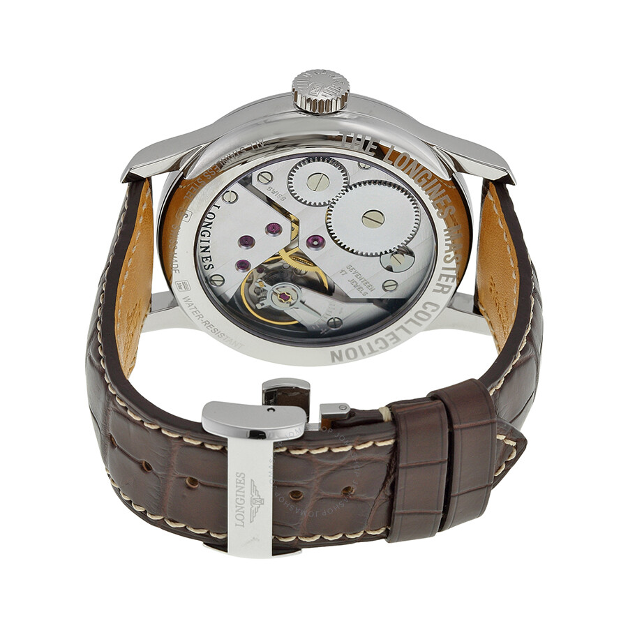 ... Longines Master Silver Dial Brown Leather Watch L26404783