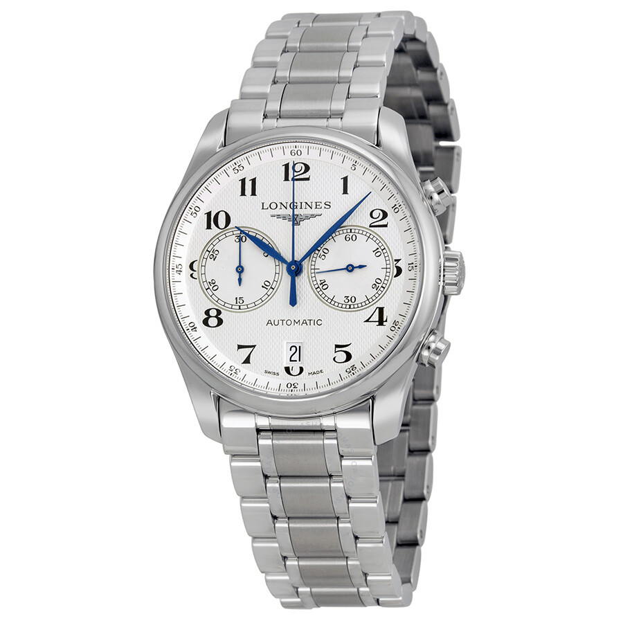 Longines Master Chronograph Automatic Silver Dial Stainless Steel Men's Watch  L2.629.4.78.6 ...