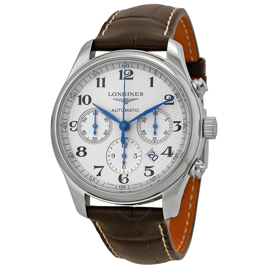 Longines master chronograph automatic silver dial men 39 s watch l27594783 master collection for Chronograph master