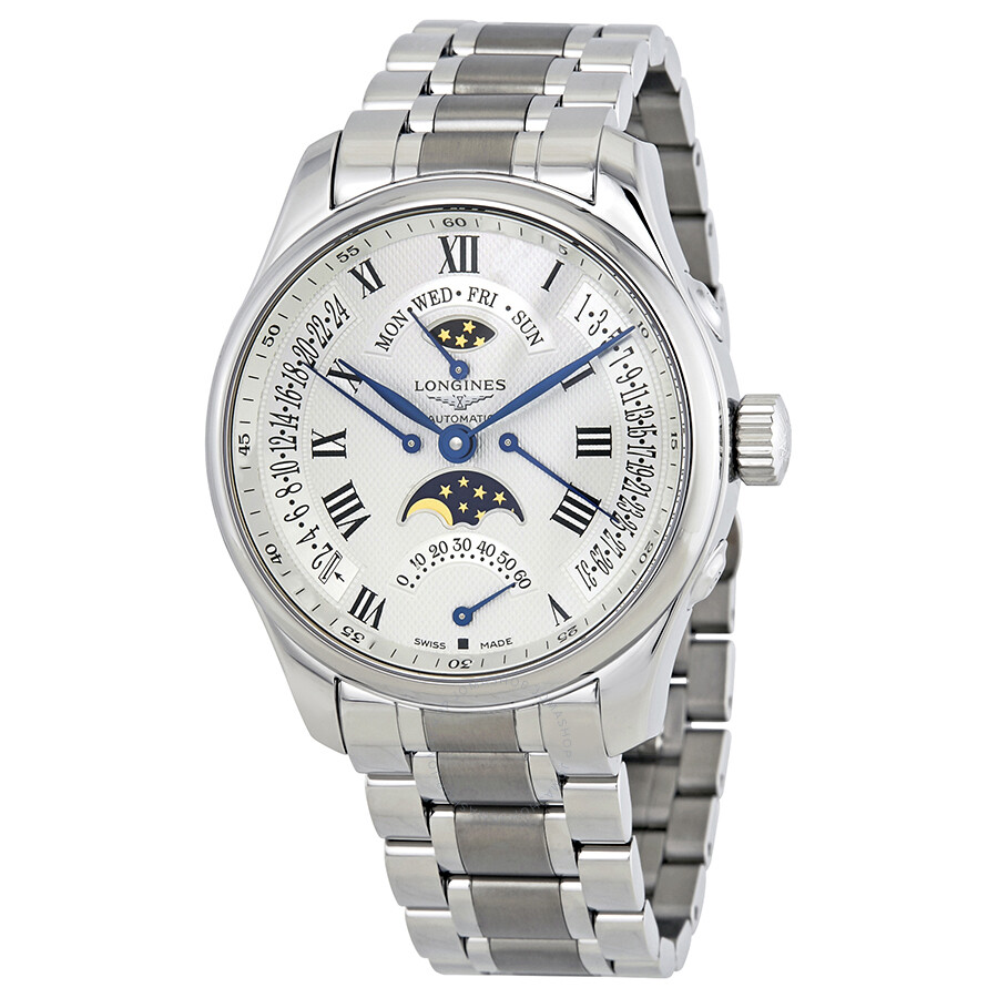 Longines master collection mens watch l this is a pre-owned longines master collection moonphase gents watch.