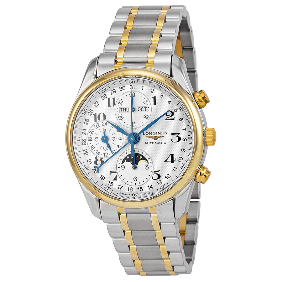Longines master collection mens 18k gold watch
