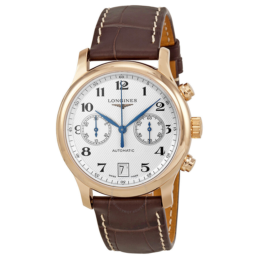 longines master collection silver 18kt gold