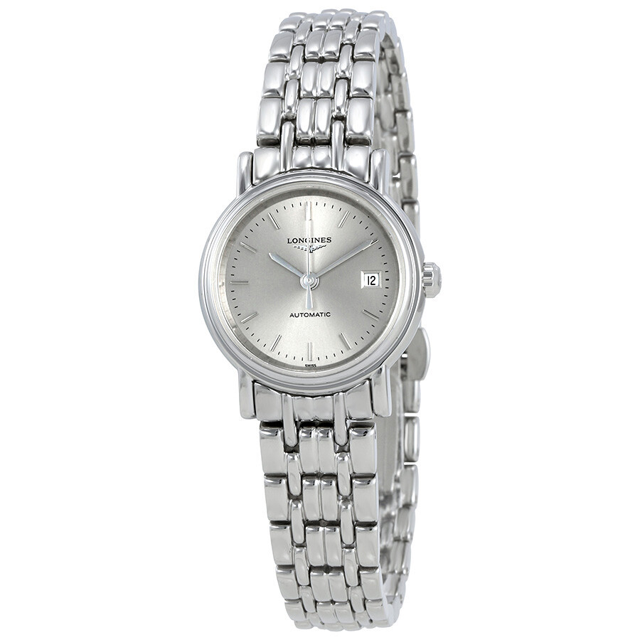 Presence Automatic Silver Dial Ladies Watch L43214726