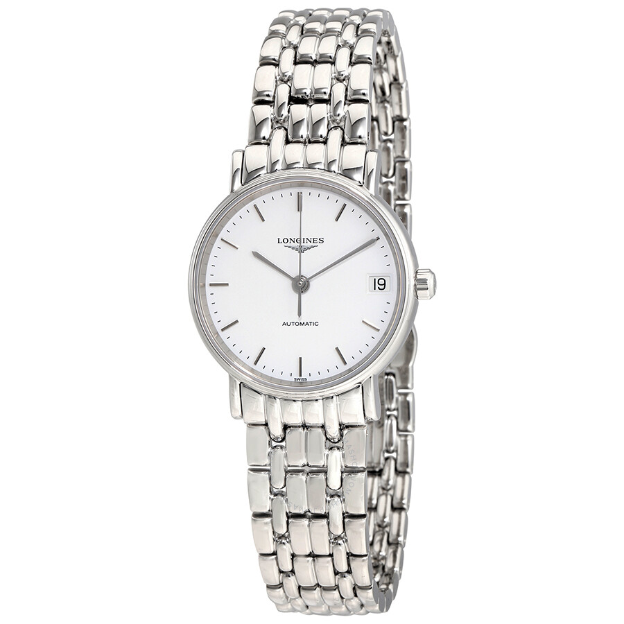 Presence Automatic White Dial Ladies Watch L43224126