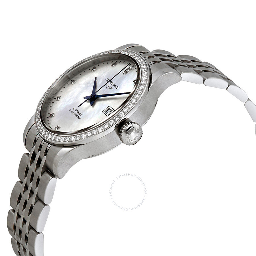 cc338ead1 ... Longines Record Automatic Mother of Pearl Dial Ladies Watch  L2.321.0.87.6 ...