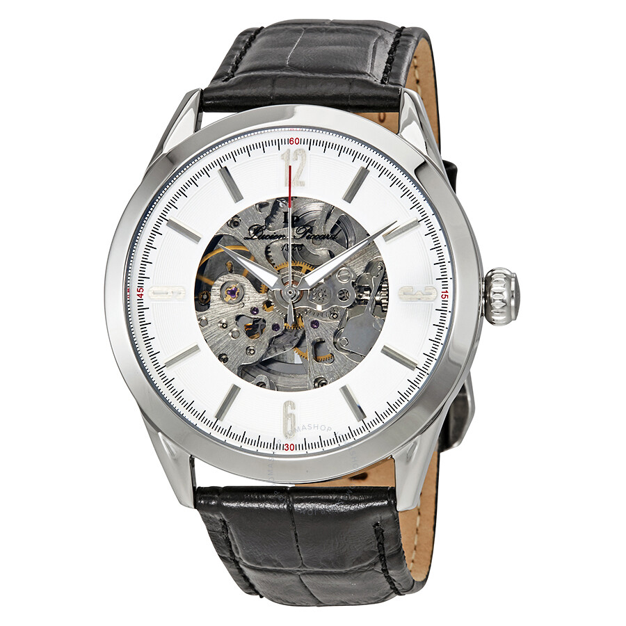 469b09ab8299 Lucien Piccard Automatic Skeleton Dial Men s Watch LP-10660A-02S-W ...