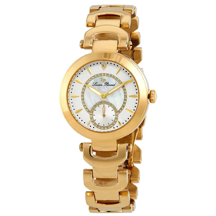 73d6b24e8d87 Lucien Piccard Casablanca Gold Crystal Ladies Watch LP-10268-YG-22 ...