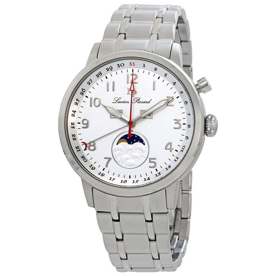 637eac053b7 Lucien Piccard Complete Calendar White Dial Men s Watch 40016-22S ...