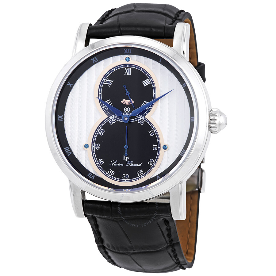 3745c1ce400 Lucien Piccard Infinity Dual Time Men s Watch 40044-02S-RA Item No.  LP-40044-02S-RA