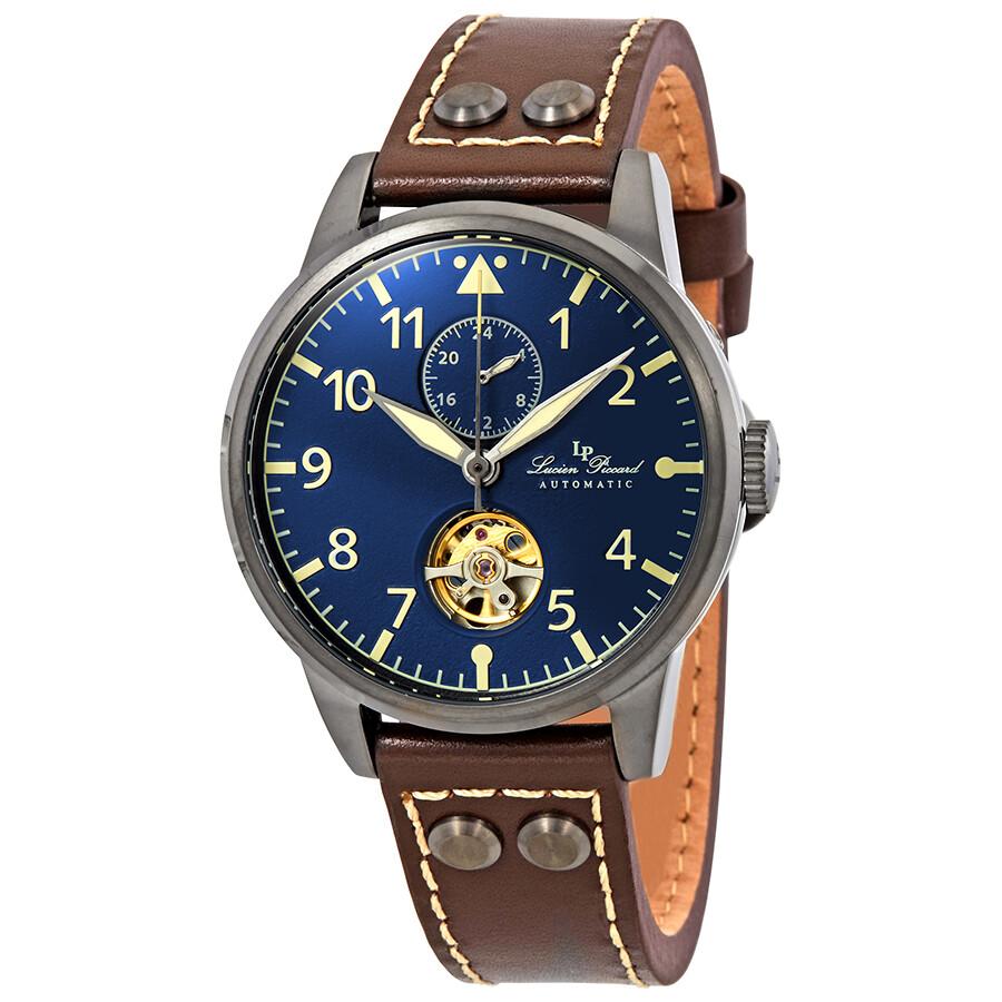 930da07858e8 Lucien Piccard Military 24 Automatic Blue Dial Men s Watch LP-28005A-GM-03  ...