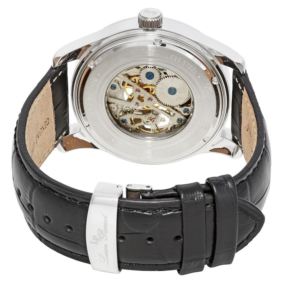 cc47a32a7372 ... Lucien Piccard Morgana Open Heart Mechanical Hand Wind Men s Watch LP -40006M-02S