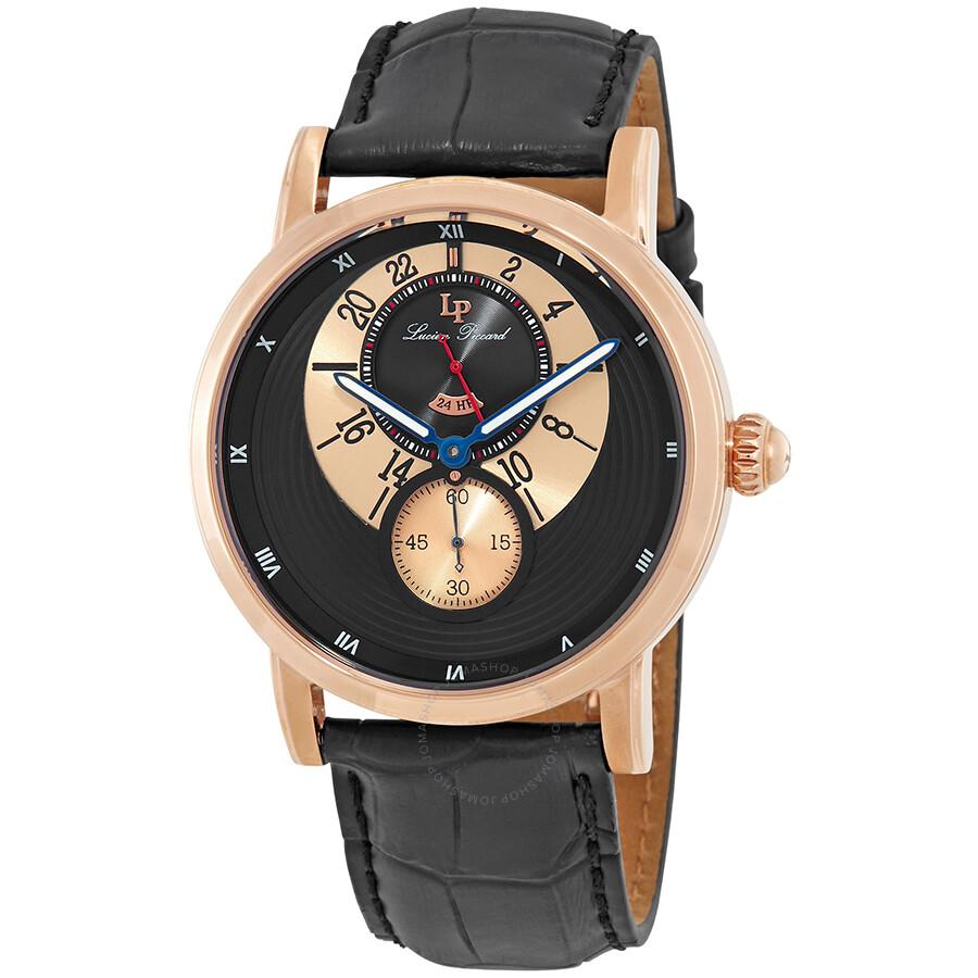 Lucien Piccard Santorini Gold-tone Case 24 Hour Men's Watch 40043-RG-01 ...