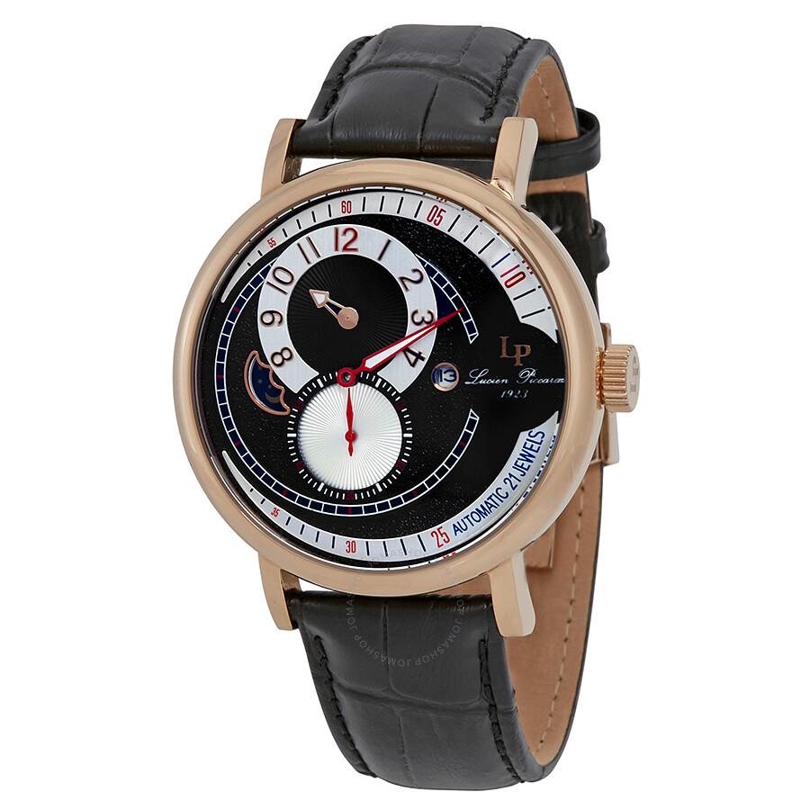 Lucien Piccard Supernova Moonphase Automatic Men's Watch LP-15157-RG-01 ...