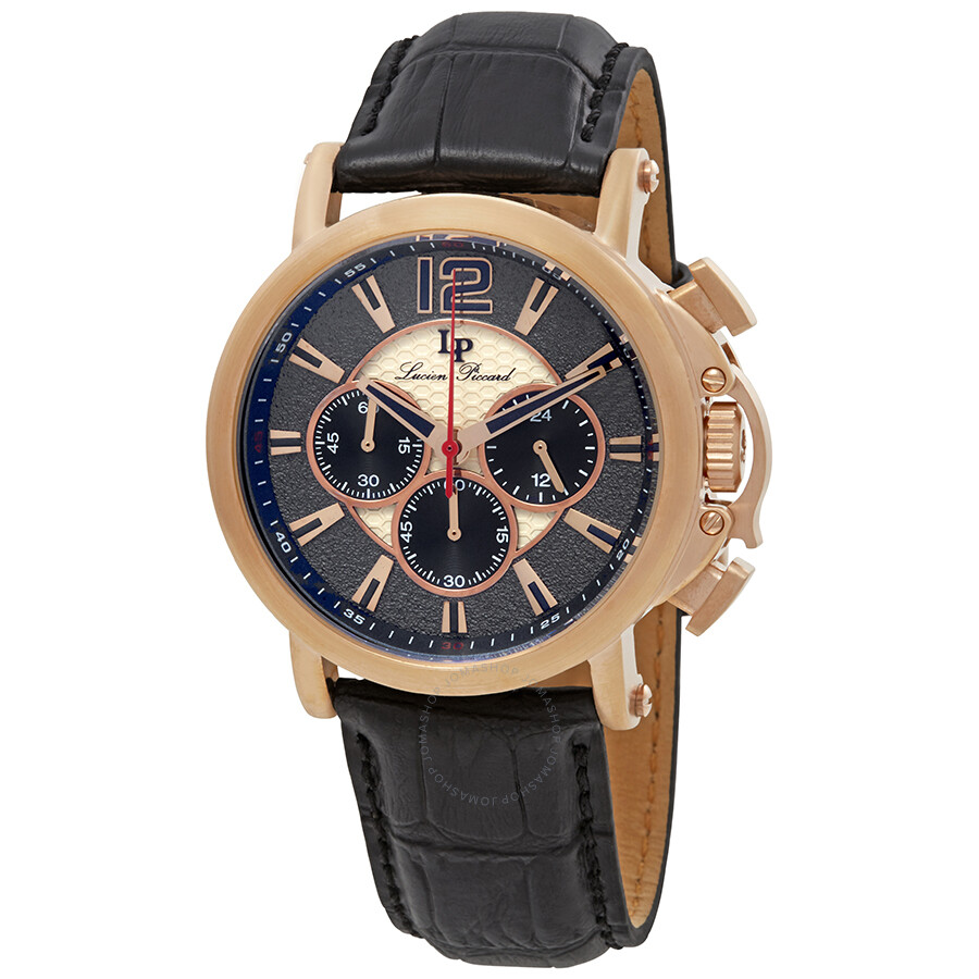 13c93021023 Lucien Piccard Triomf GMT Chronograph Men s Watch 40018C-RG-01 ...