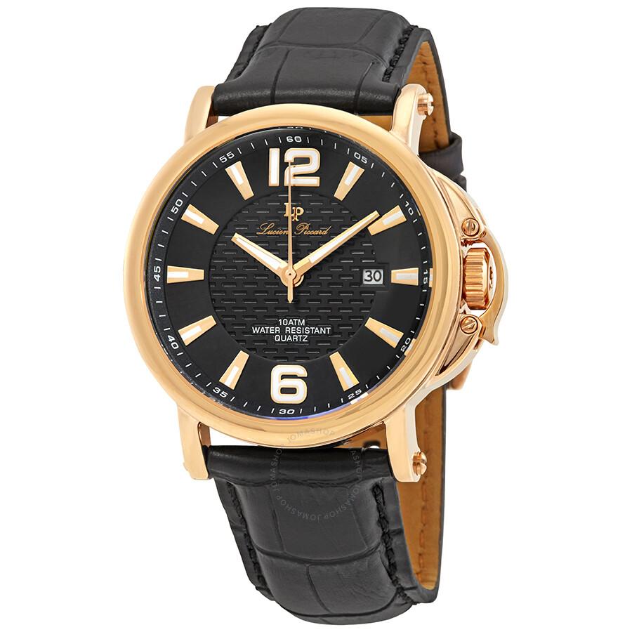 Lucien Piccard Triomf Rose Black Men's Watch LP-40018-RG-01 ...