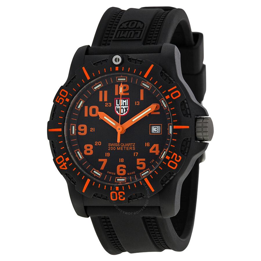 a866329e6b4 Luminox Black Ops Carbon Series Orange Dial Black Polyurethane Men s Watch  8819.GG ...