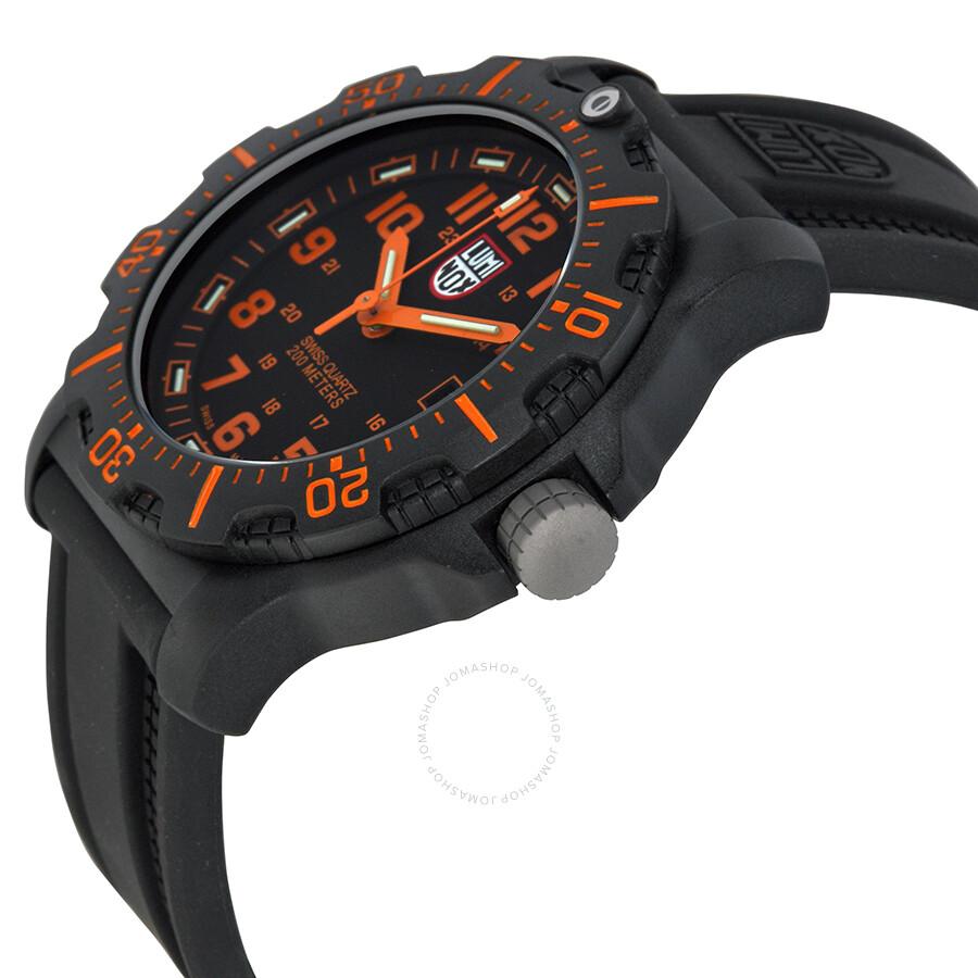 fb46ce6444a GG Luminox Black Ops Carbon Series Orange Dial Black Polyurethane Men s  Watch 8819.