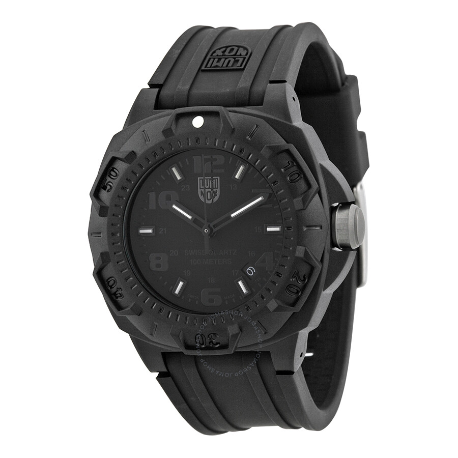 Luminox blackout black dial and rubber strap men 39 s watch su0201 bo luminox watches jomashop for Luminox watches