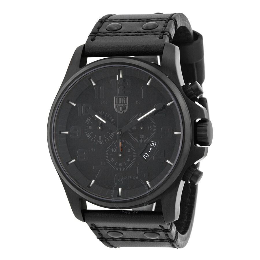 Luminox blackout black dial chronograph men 39 s watch su1881 bo luminox watches jomashop for Luminox watches
