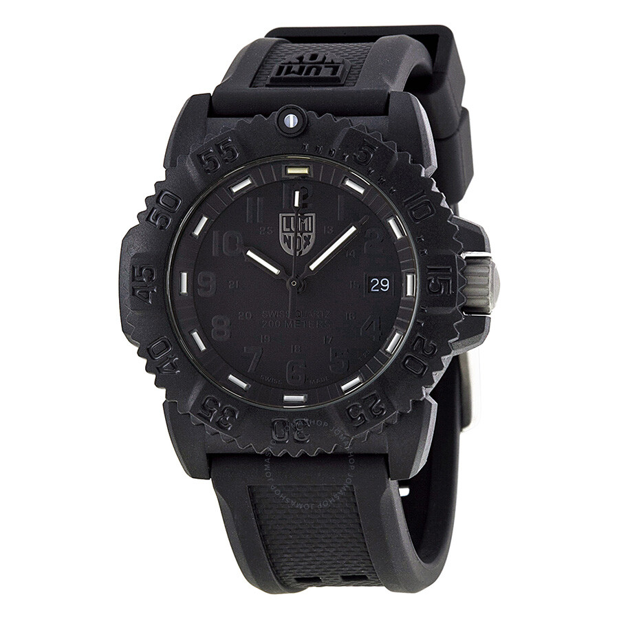 Luminox colormark blackout black dial black rubber unisex watch 7051 bo luminox watches for Luminox watches