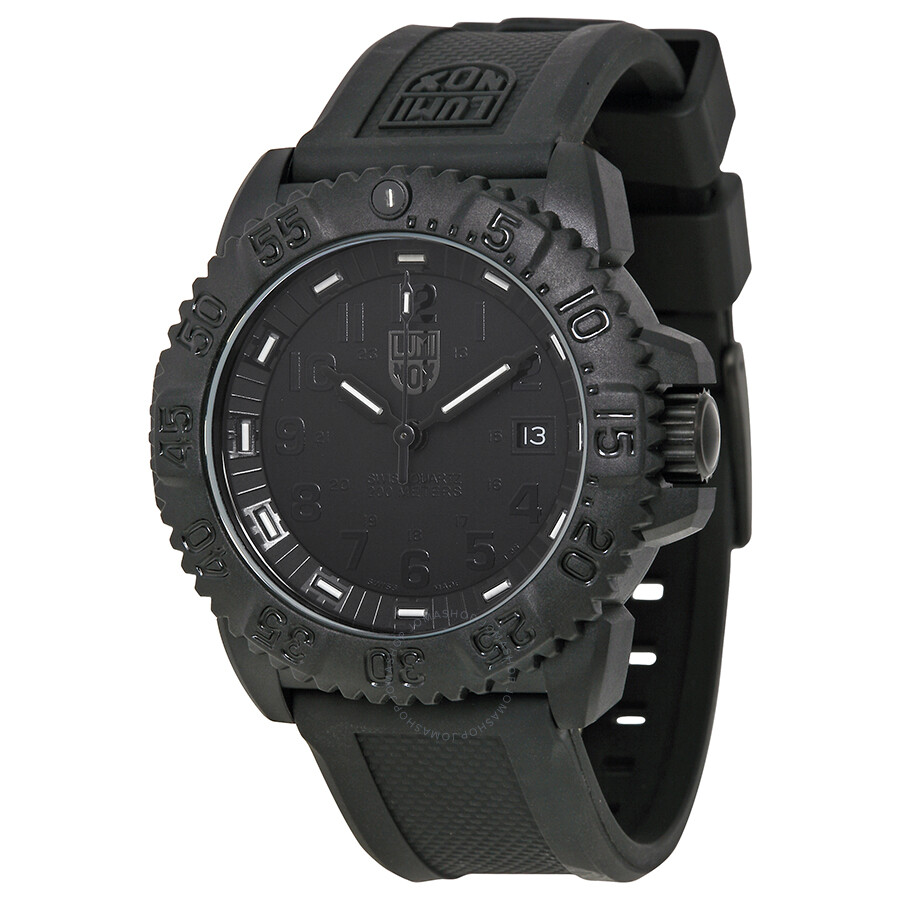 Luminox evo navy seal blackout men 39 s watch 3051 blackout luminox watches jomashop for Luminox watches