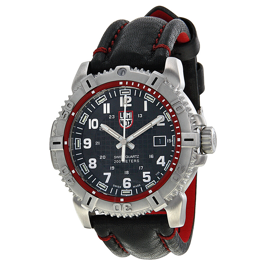 Luminox mariner black dial black leather men 39 s watch 6265 luminox watches jomashop for Luminox watches
