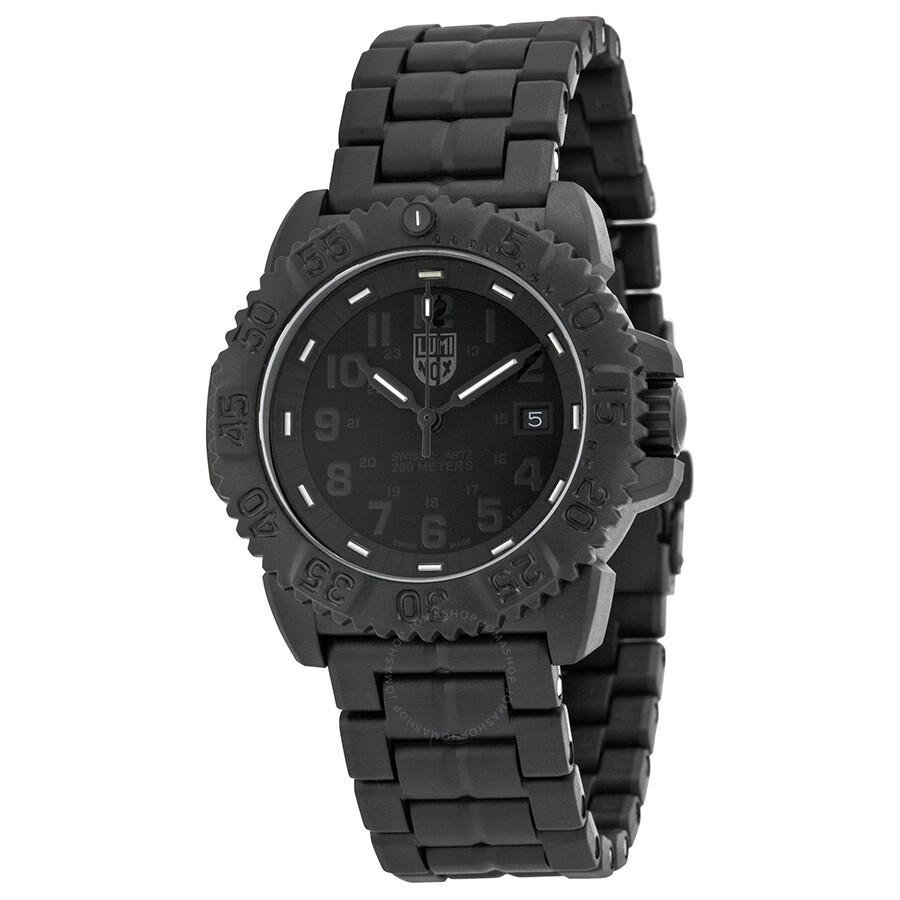 Luminox navy seal colormark all black men 39 s watches 3052 bo luminox watches jomashop for Luminox watches