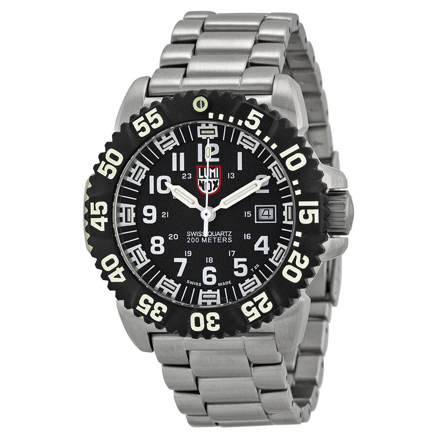 Luminox navy seal colormark black dial steel men 39 s watch su3152 luminox watches jomashop for Luminox watches