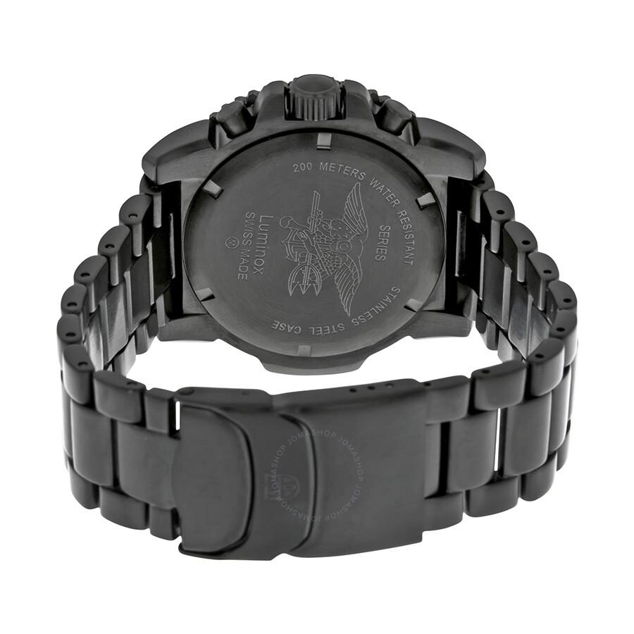 6dfbc022527 Luminox Navy SEAL Colormark Chronograph Black PVD Men s Watch 3182 ...
