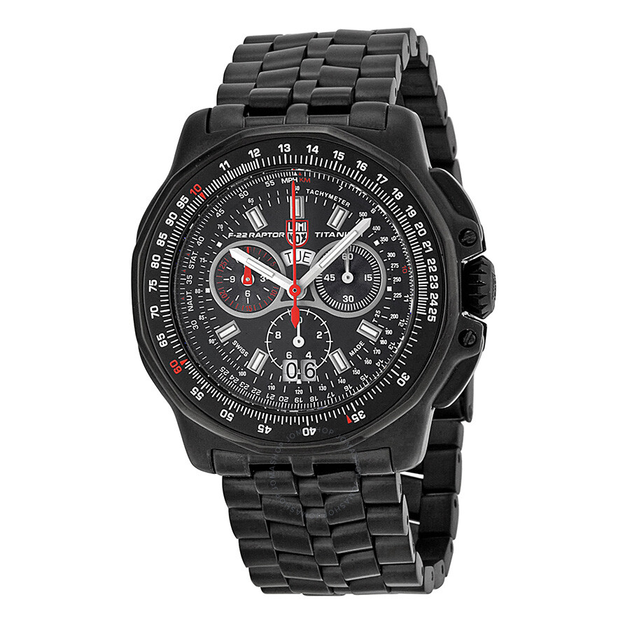 Luminox raptor black dial chronograph black pvd titanium men 39 s watch su9272 luminox watches for Luminox watches