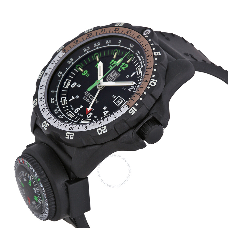 Luminox recon navigation specialist compass black silicone men 39 s watch 8832 mi luminox for Luminox watches