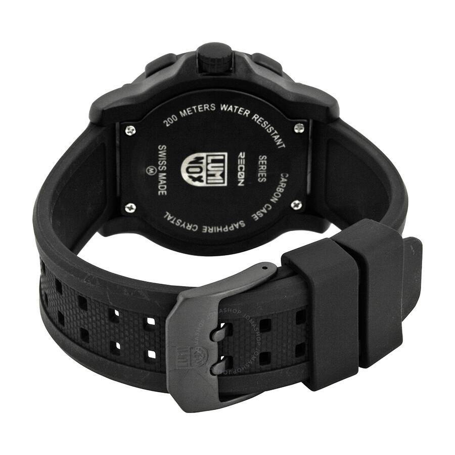 KM Luminox Recon Point Man Black Dial Black Rubber Strap Men's Watch SU8821.
