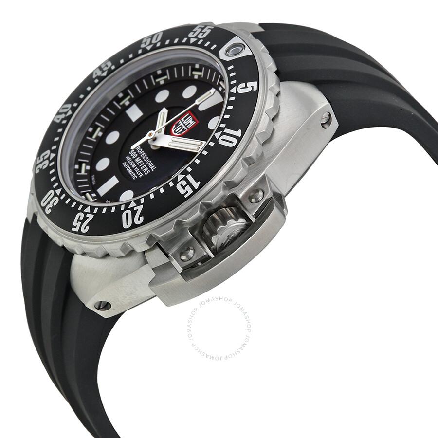 Luminox sea deep dive automatic black dial black rubber - Luminox dive watch ...