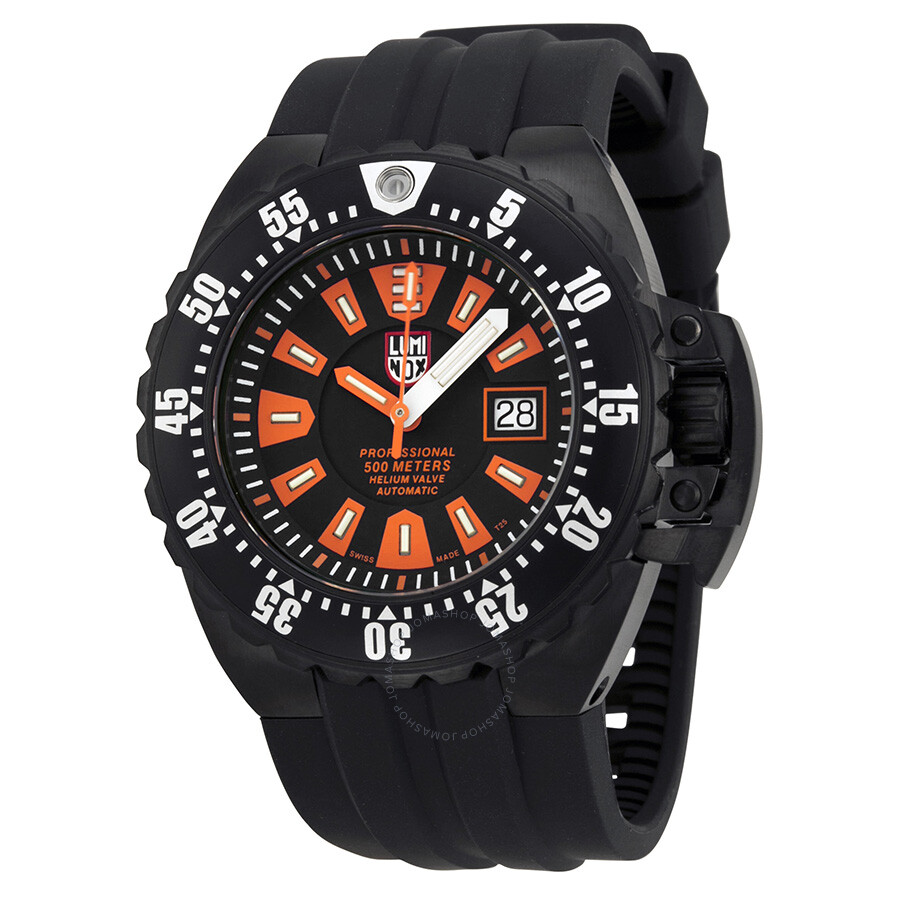 Luminox series 1500 deep dive automatic black dial men 39 s watch 1509 luminox watches jomashop for Luminox watches