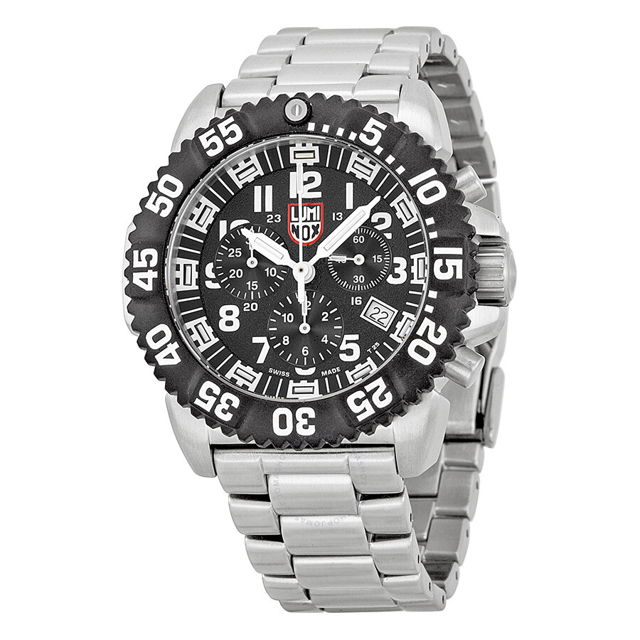 Luminox steel colormark chronograph black dial stainless steel men 39 s watch 3182 luminox for Luminox watches