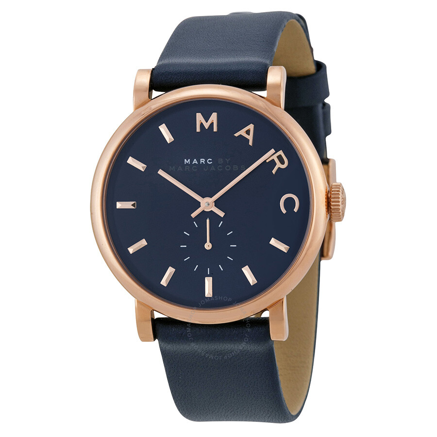 marc by marc jacobs baker navy dial navy leather ladies watch mbm1329 marc by marc jacobs. Black Bedroom Furniture Sets. Home Design Ideas