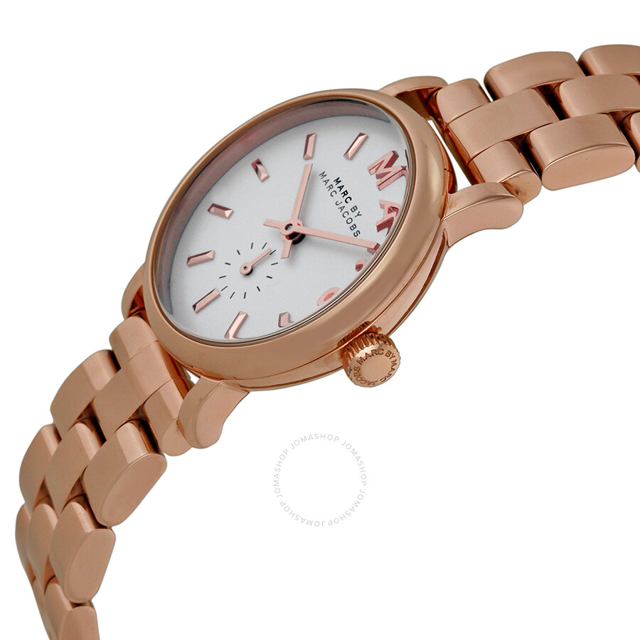 Marc By Jacobs Laukku : Marc by jacobs baker white dial rose gold plated