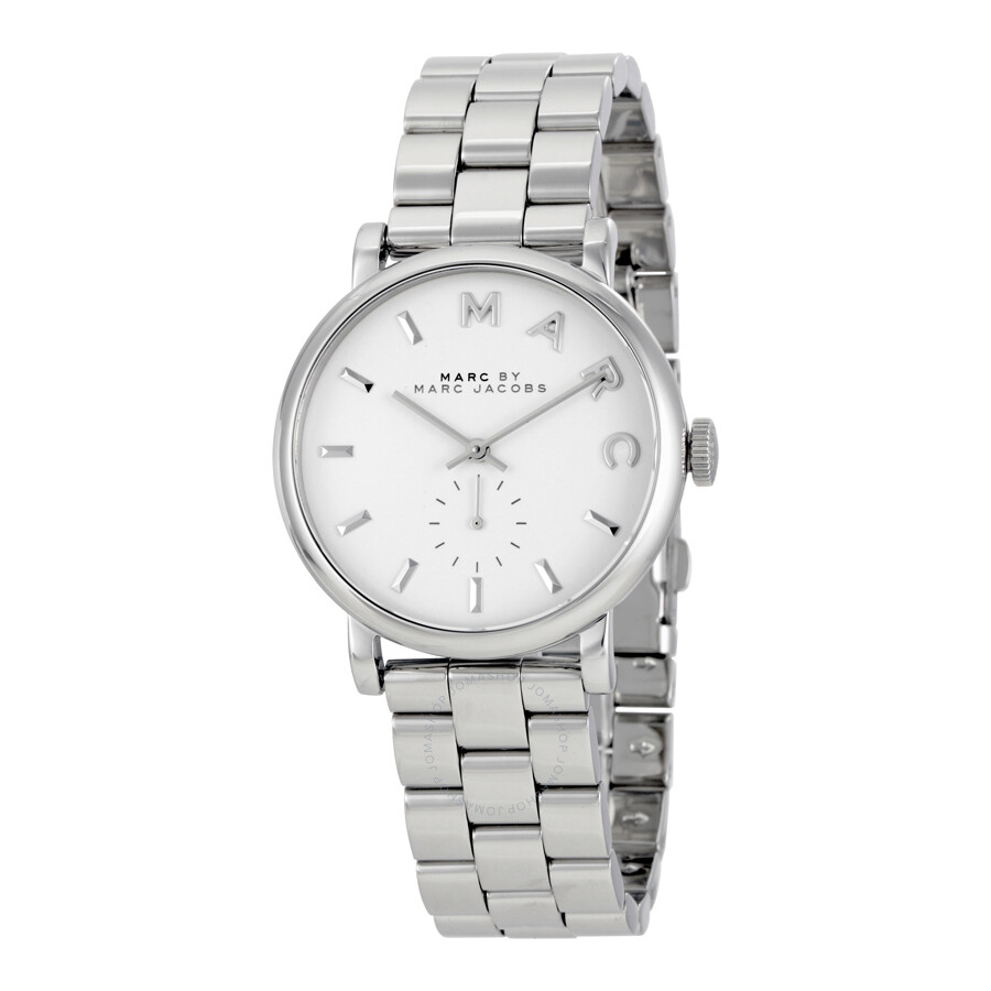 marc by marc jacobs baker white dial steel ladies watch mbm3242 marc by marc jacobs watches. Black Bedroom Furniture Sets. Home Design Ideas