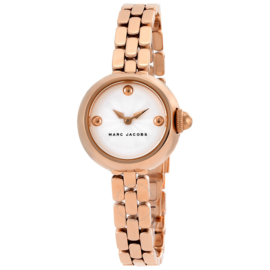 marc jacobs courtney silver dial ladies rose gold watch