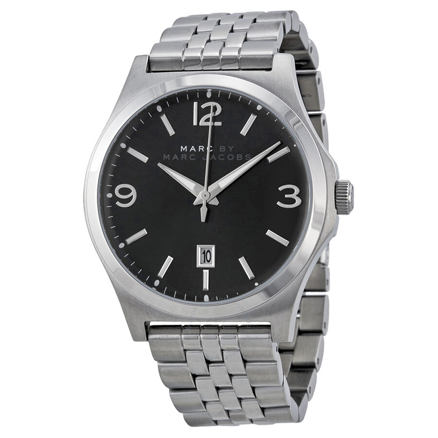 marc jacob men watches best watchess 2017 marc by jacobs danny black dial stainless steel men s watch