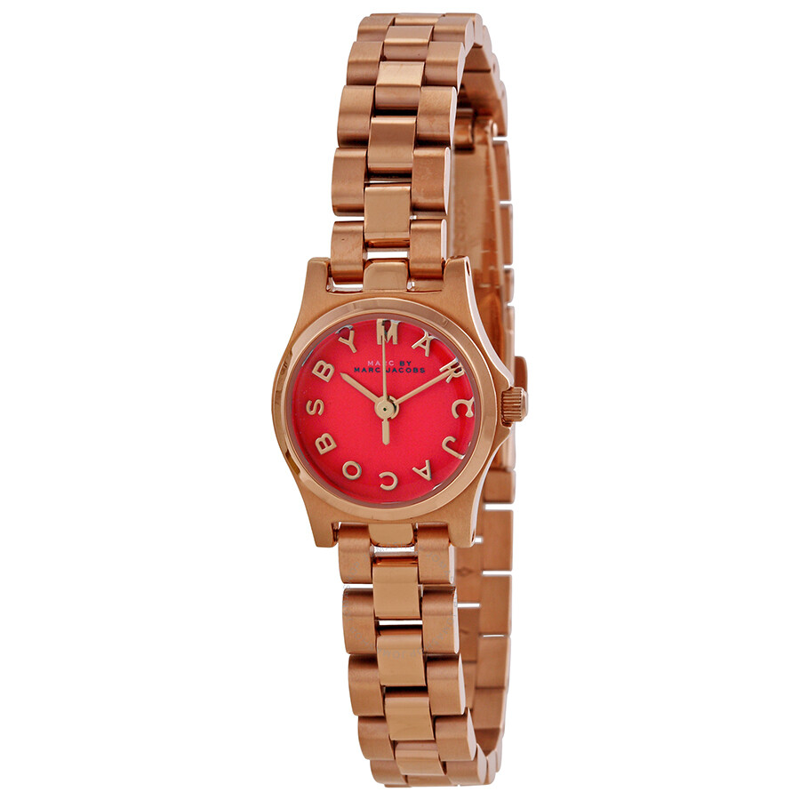 Marc by Marc Jacobs Henry Dinky Orange Dial Rose Gold-tone Ladies Watch  MBM3311 ... 0c29eadf929