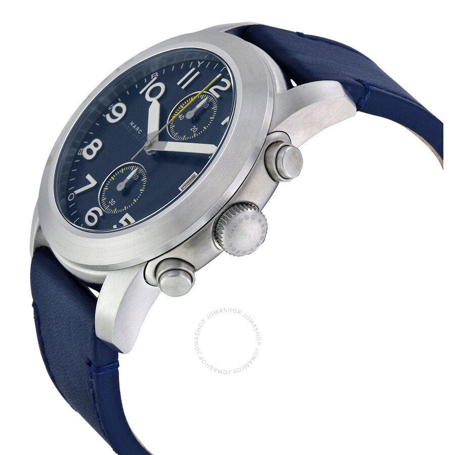 marc by marc jacobs larry chronograph blue dial blue leather men s marc by marc jacobs larry chronograph blue dial blue leather men s watch mbm5084