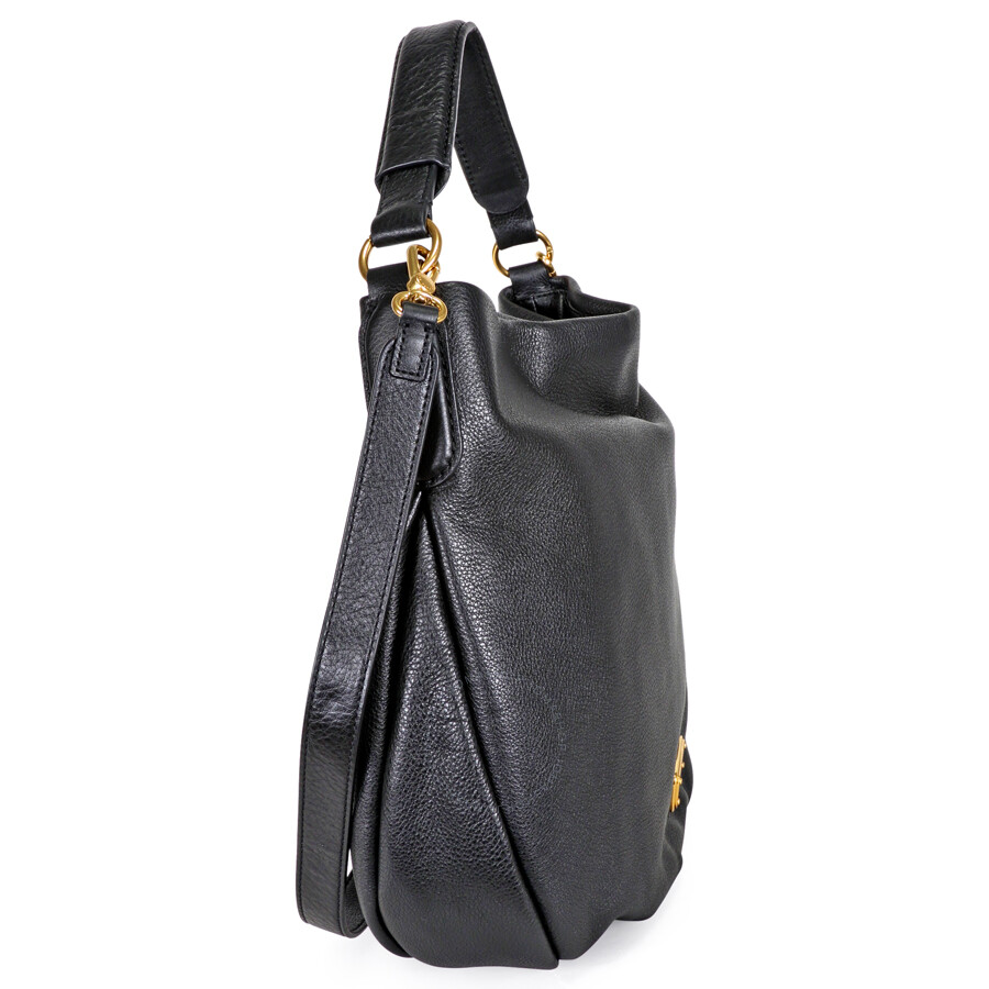 16722f22a3ca Marc by Marc Jacobs New Q Hillier Hobo Shoulder Bag- Black - Marc by ...