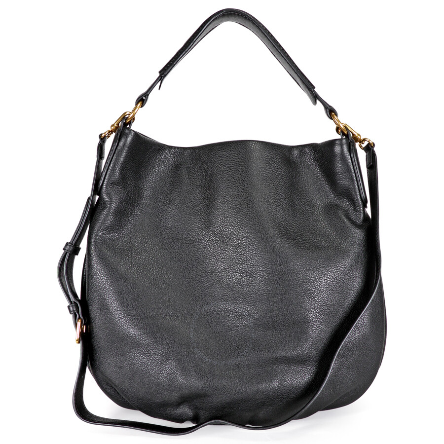 Marc By Jacobs New Q Hillier Hobo Shoulder Bag Black