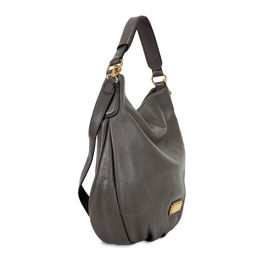 19cf7839fdc0 Marc by Marc Jacobs New Q Hillier Hobo Shoulder Bag- Faded Aluminum ...