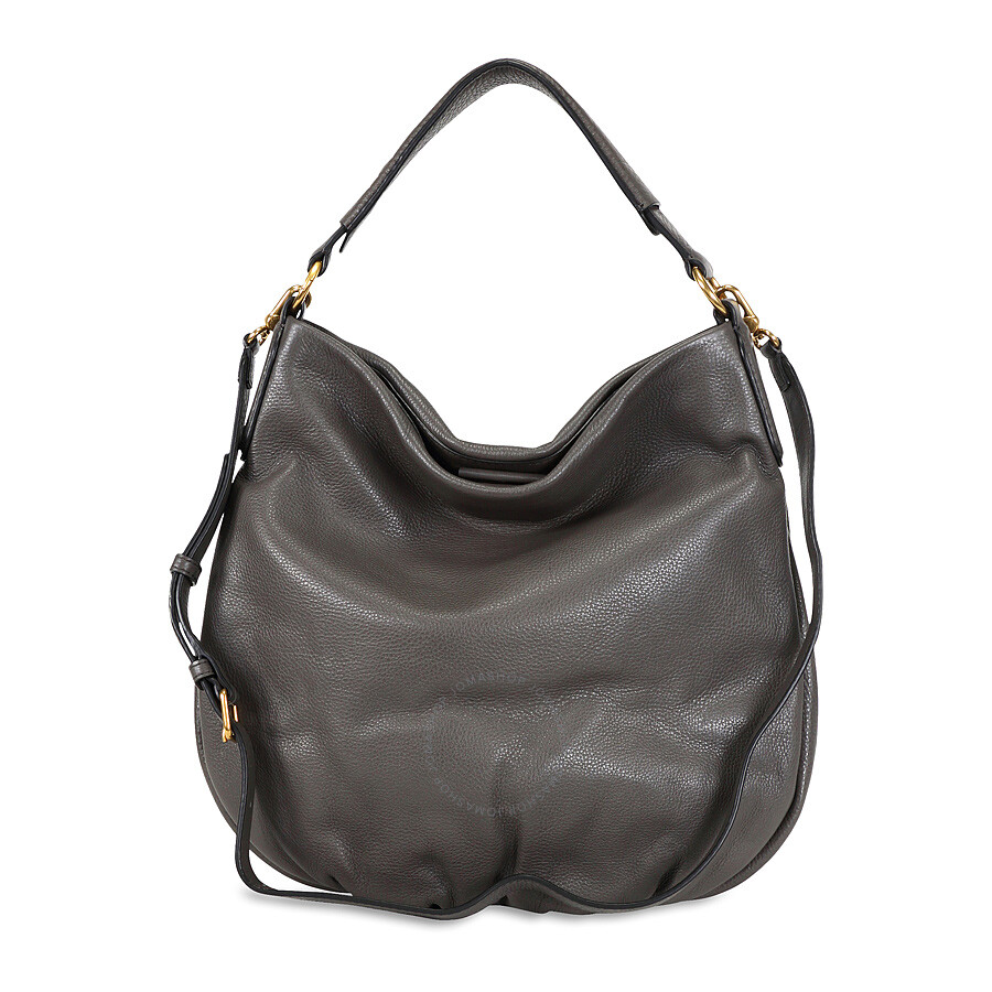 2a3735ad194 Marc by Marc Jacobs New Q Hillier Hobo Shoulder Bag- Faded Aluminum ...
