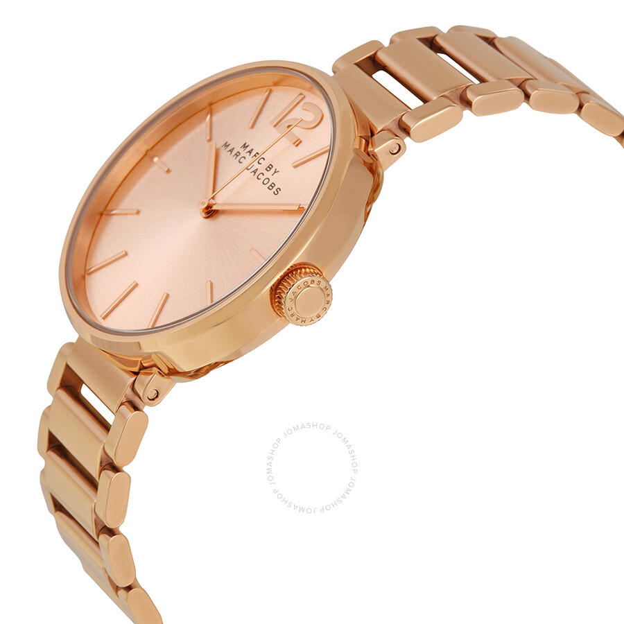 Snap Jacobs By Marc For In Collaboration Mj1438 Peggy Rose Sunray Dial Ladies Watch Mbm3402