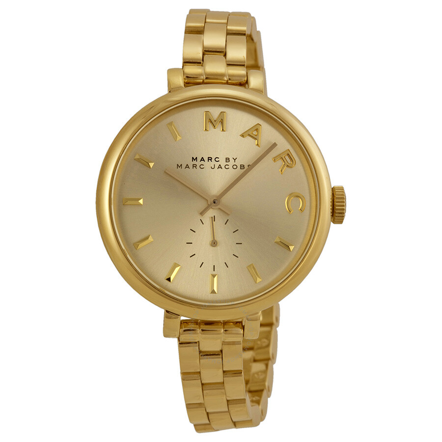 Marc by Marc Jacobs Sally Champagne Dial Gold-tone Ladies Watch ...