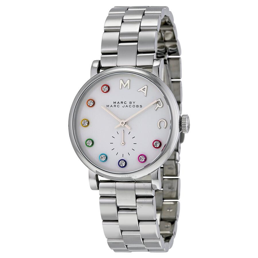 marc by marc jacobs silver dial stainless steel ladies